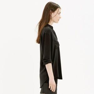 Madewell Silk Spotlight Shirt | Black | Size Small